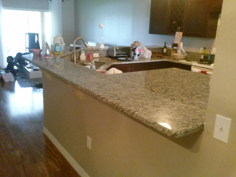 Stone point granite starting at per sf orlando for Granite countertop overhang